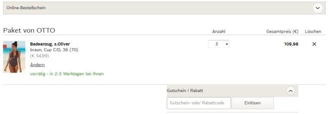 ᐅ Otto Versandkostenfrei Code 50 Rabatt Gutschein