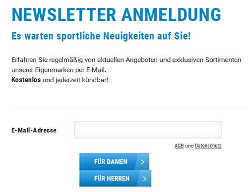 Decathlon Newsletter